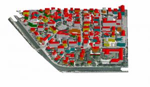 modello 3D dell'edificato